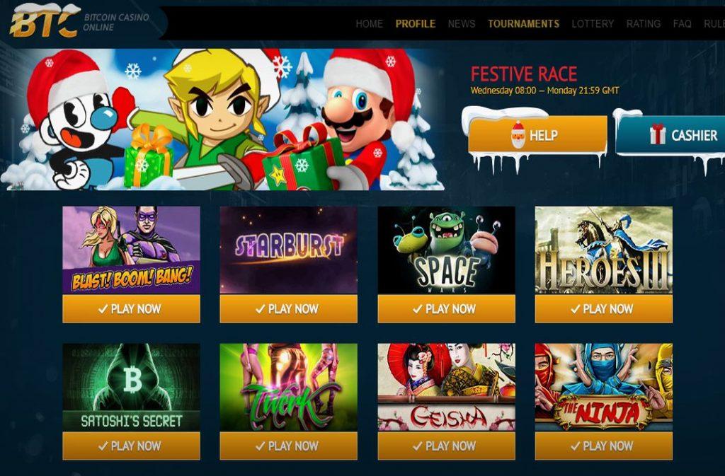 Permainan kasino bitcoin berputar percuma dalam talian